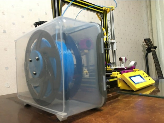 PLA filament DIY dry box by Bookledge available on Thingiverse