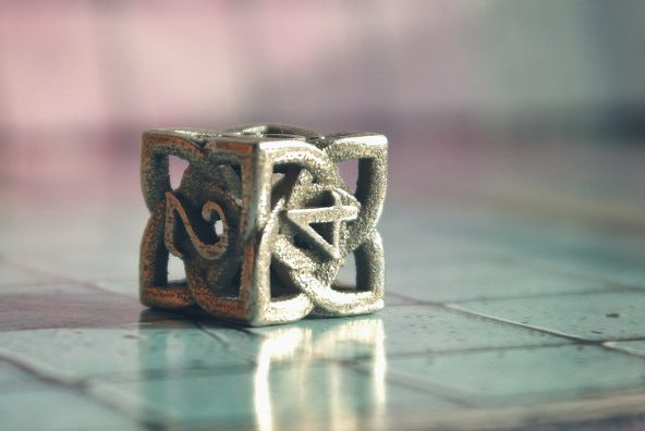 Metal 3D printed dice
