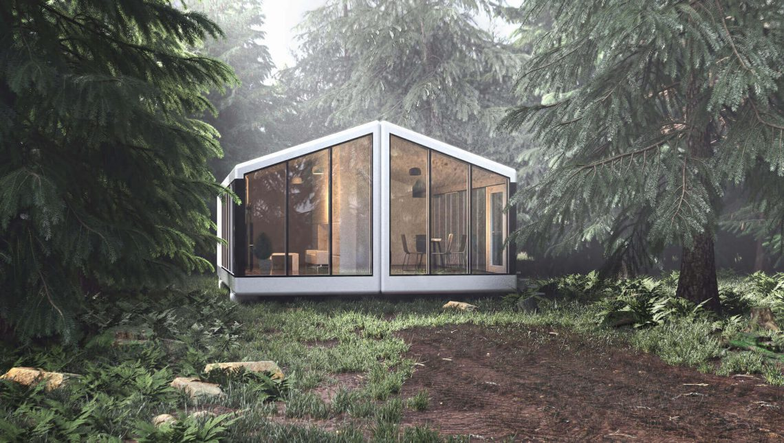 PassivDom's self-sustainable 3D printed house. Available from  haus.me. Photo curtesy of PassivDom