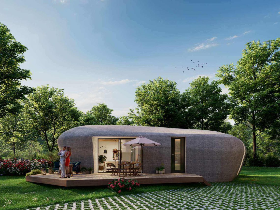 3D printed house of the future. Photo curtesy of Houben Van Mierlo Architecten