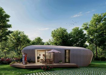 3D printed house of the future. Photo curtesy of Houben Van Mierlo Architecten