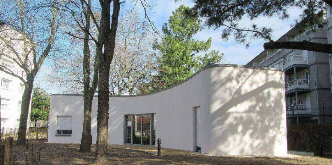 The first human inhabited 3D printed house located in France. Developed in part by University of Nantes.