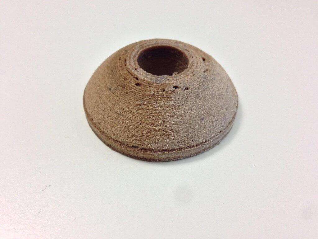 Wood filament 3D print. Photo by tkramm