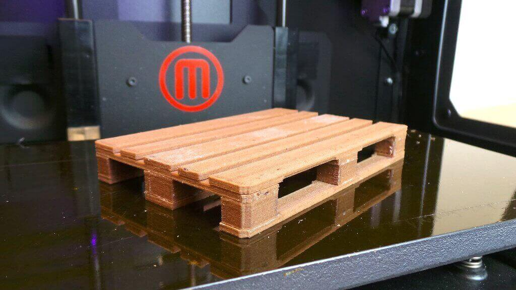 Wooden EUR pallet 3D print. Photo by Creative tools