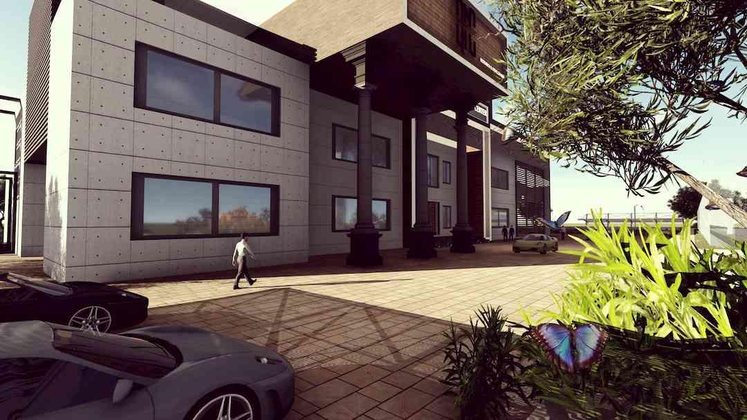Hospital design rendered with Lumion 8.3. Photo credit: Muhyuddin